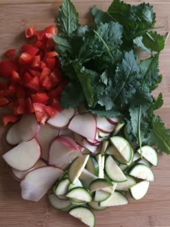 Veggies for Frittata