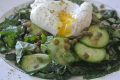 Poached Egg Swiss Chard