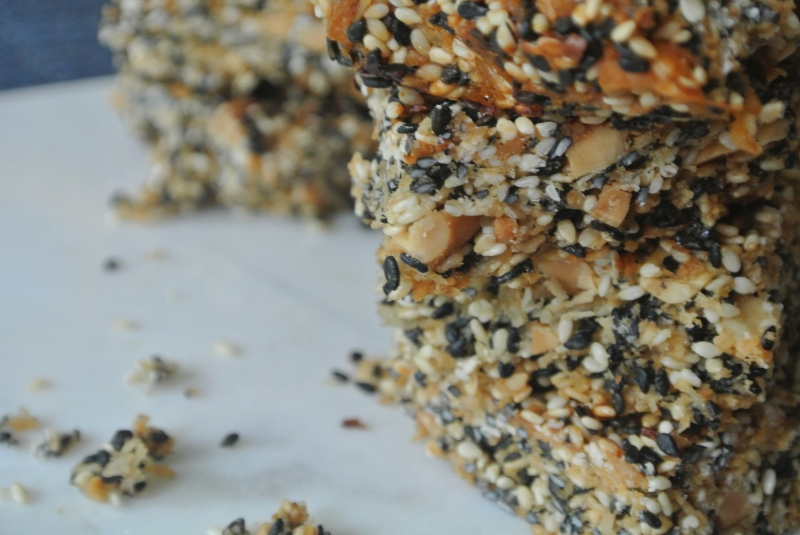 Sesame Peanut Bars