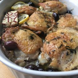 oven baked chicken w/artichokes