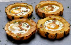 Roasted Squash w/eggs