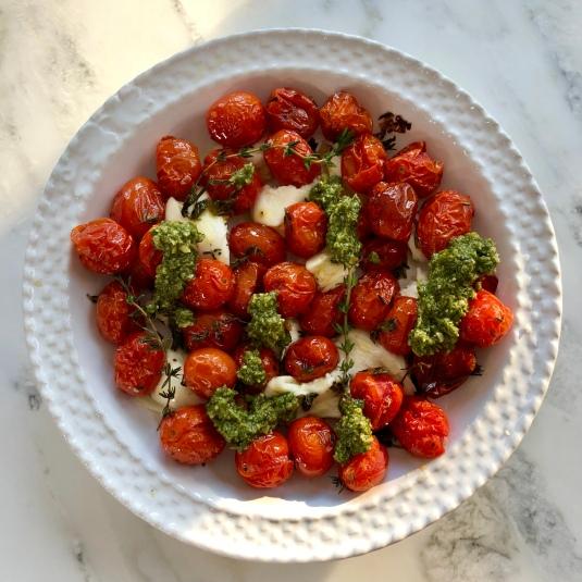 Caprese Roasted Tomatoes